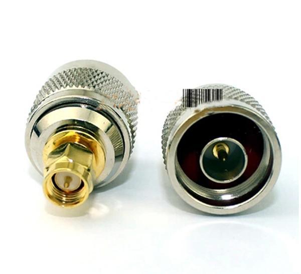 Frete grátis 2pcs N macho para SMA adaptador macho Converter conector Jack Radio Walkie Talkie Acessórios Reparação