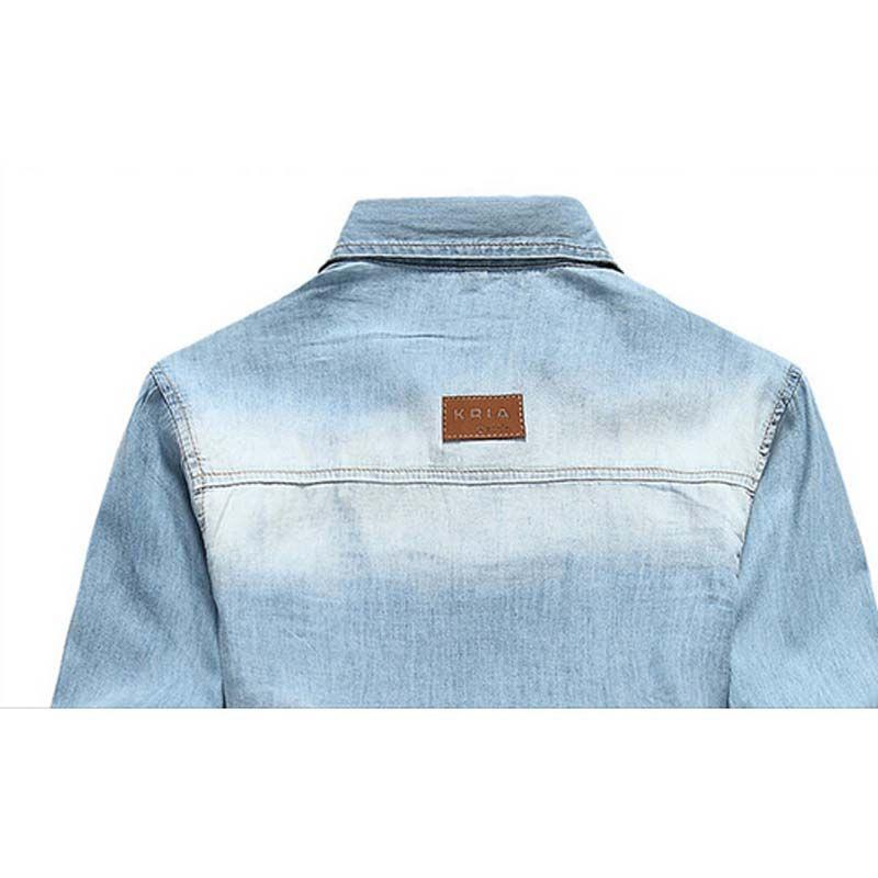 Оптово-новый человек джинсовые рубашки ковбойские хлопчатобумажные рубашки мужские повседневные летние Camisa MCL285