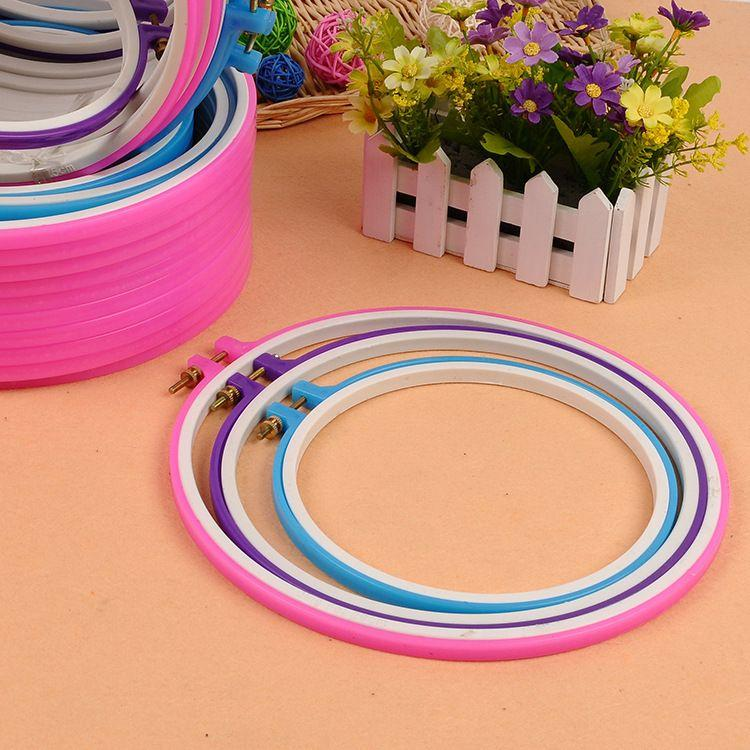 Size 21CM/25/CM 29CM cross stitch round plastic embroidery frame hoops
