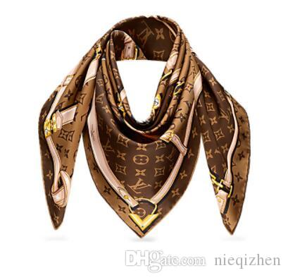 2019 Women Stamp Scarf World Tour Shawl Confidential Square Women Silks Scarves Wool Shawls Pashmina 140x140cm