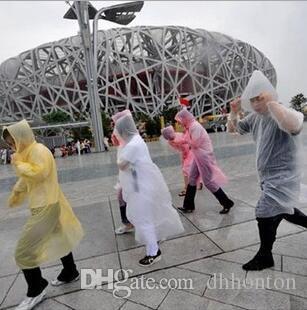 Пластиковые одноразовые плащ мода горячие одноразовые PE плащи пончо дождевики путешествия пальто дождя Дождь одежда 2000 шт. HK28