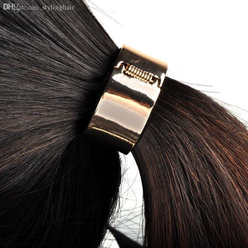Fascia del supporto della coda di cavallo dell'involucro del polsino dell'involucro del polsino del cerchio del metallo di modo all'ingrosso-punk 2 colori