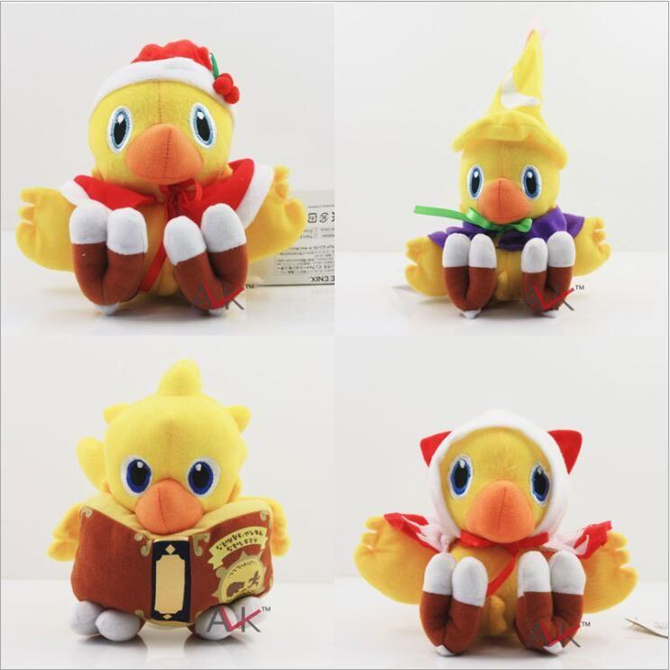 Final Fantasy Chocobo Dolması Hayvanlar Peluş Bebek Oyuncak Etiketi Ile Çocuklar Için Brithday Hediye 13-18 cm karikatür peluş