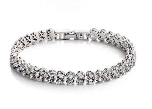 الأزياء الفاخرة والمجوهرات الفاخرة 925 الفضة مكعب زركونيا المرأة سوار هدية