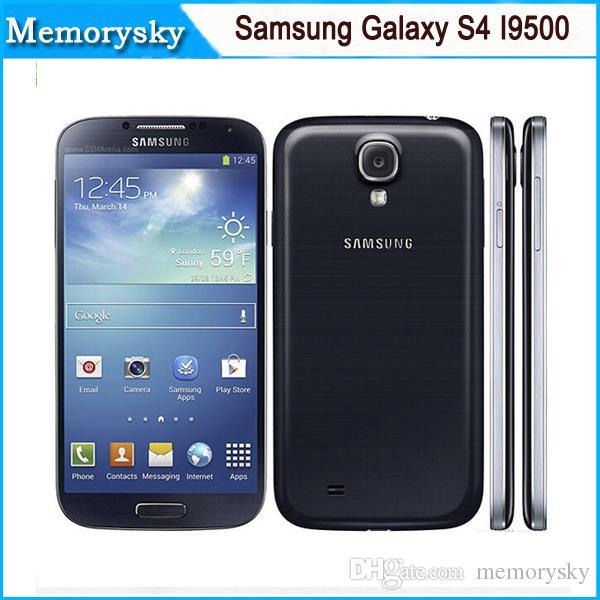 Original refurbished Samsung Galaxy S4 i9500 5.0inch unlocked phone 13MP Camera Quad Core 16GB Storage hot sale DHL shipping Smart Phone