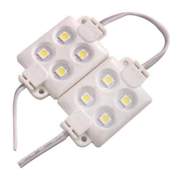 حقن ABS البلاستيك SMD5050 بقيادة وحدة SMD 4 المصابيح DC12V LED RGB وحدة حقن IP65 للماء بقيادة وحدة أضواء الإعلانات رسالة