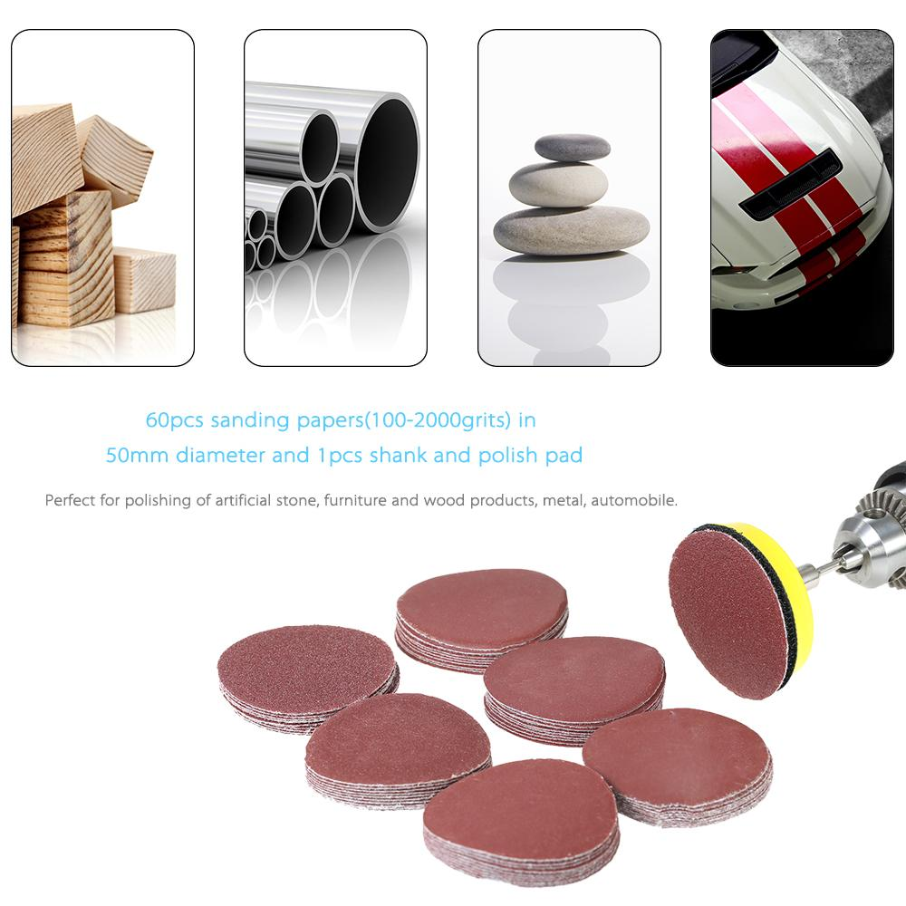 2021 50mm 2 100 2000 Grit Paper Sander Disc Sanding Disk With 2inch Abrasive Polish Pad Plate For Dremel Rotary Tool From Jiayouwang19820823 10 04 Dhgate Com