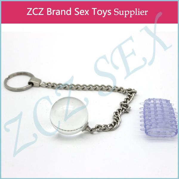 ZCZ juguete de cristal y anillo de pene de alta calidad consolador Anal Plug sexo para mujeres Glass Geisha Ball DX243-8