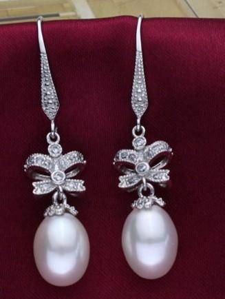 natural white pearl lady's earings ( 2 cm) (wang814 tyutrye