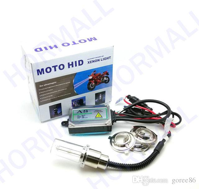 MOTOR HID KIT motorcycle hid conversion kit lights EAST INSTALL BI-XENON H6 high and low beam xenon