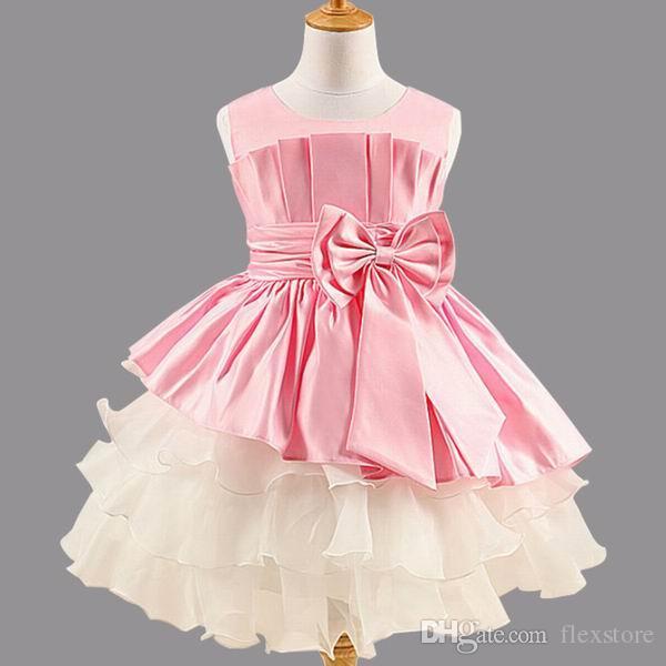 899a928f43 2017 New Girls Dress Princess Dress Children'S Party Wear Dress Big Bow  Girl Wedding Flower Baby Girls Dress For 2 6years Old From Flexstore,  $113.07 ...