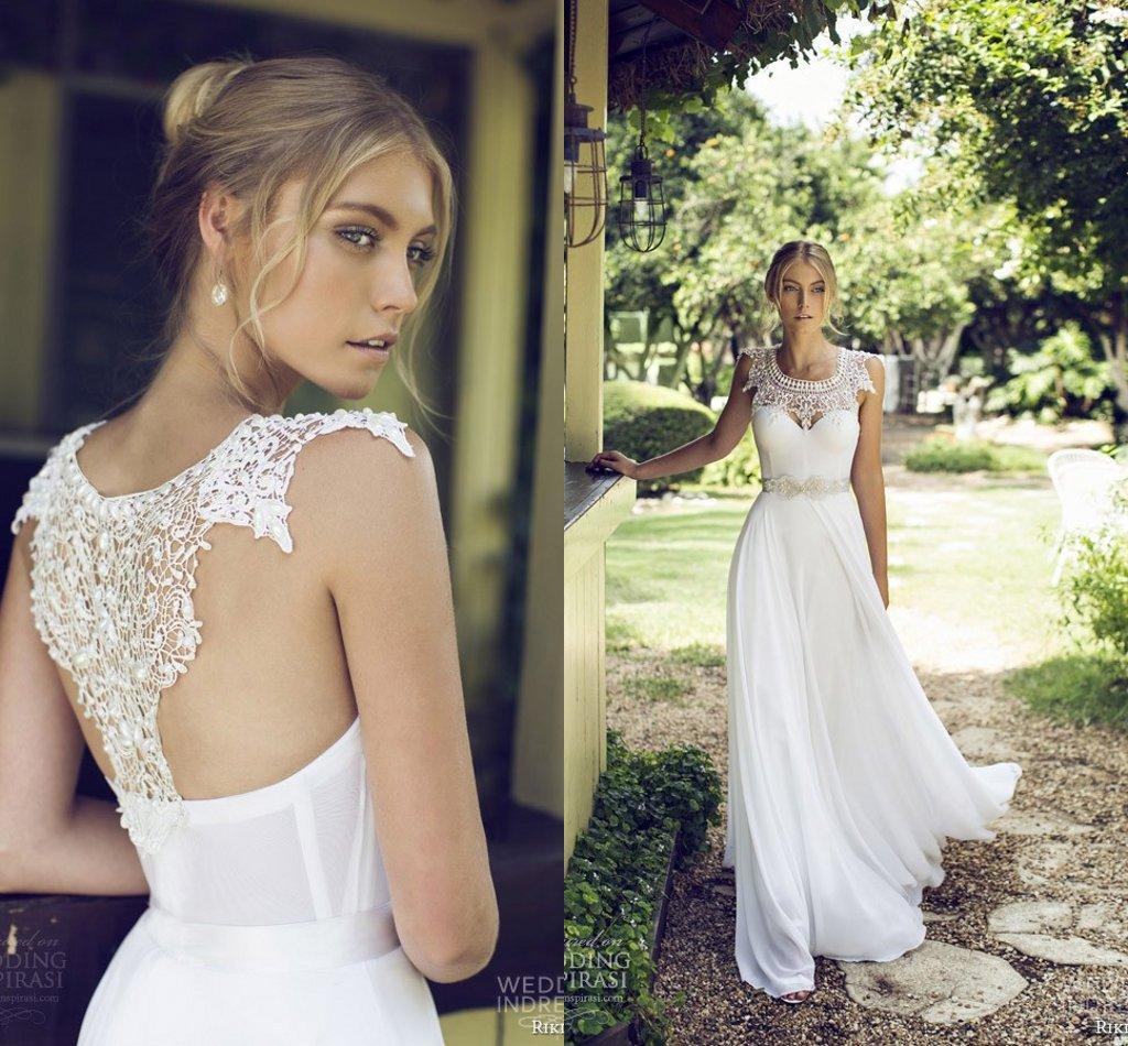 Riki Dalal 2015 Automne Robes de mariée Robes de Mariée avec Bolero détachable Brodé élégante manches longues en mousseline de soie Cap A-ligne de robe de mariée