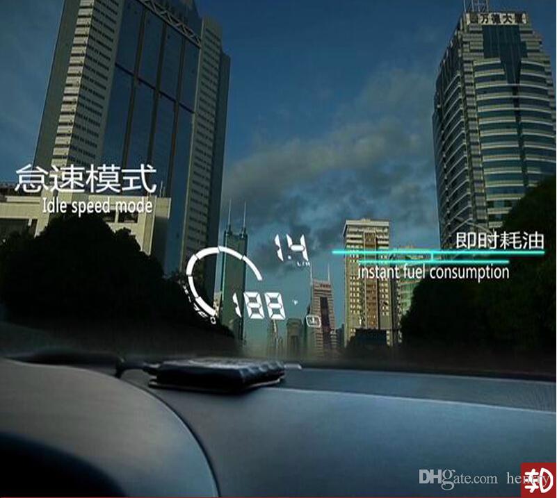 Ifound HUD S5 OBD 일반적인 운전 오류 감지기 스마트 미터 연료 온보드 컴퓨터 디스플레이 주행 거리계 자동차 HUD 5.5 인치