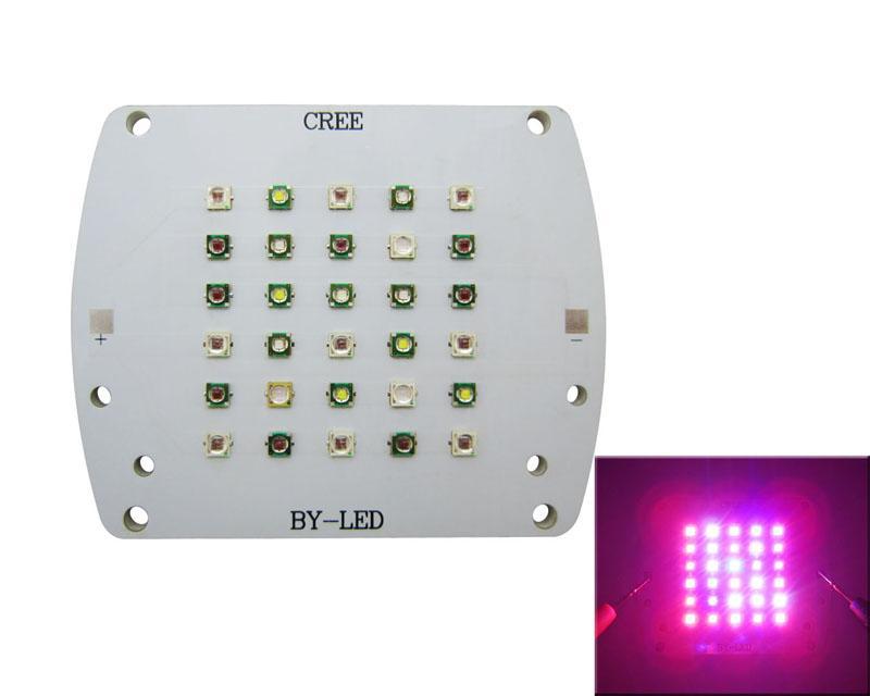 100 W Led Módulo de Luz 5000K Branco + 630 Vermelho + 530NM Verde + 460NM bBue + 430NM UV + 395nm Ciano + 660NM 23-25 V