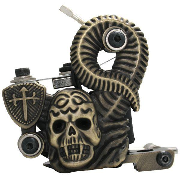 Profesional Máquina de Tatuaje de Hierro Fundido 10 Envolturas bobina de acero inoxidable Tatuajes Body Art Gun Herramienta de Maquillaje 1101322