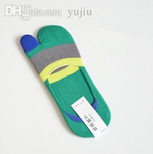 Atacado-new Hot Summer 24pcs = 12 pairs fibra de bambu braçadeira toe meias homens mens dedo invisível meias massagem shippment atacado grátis