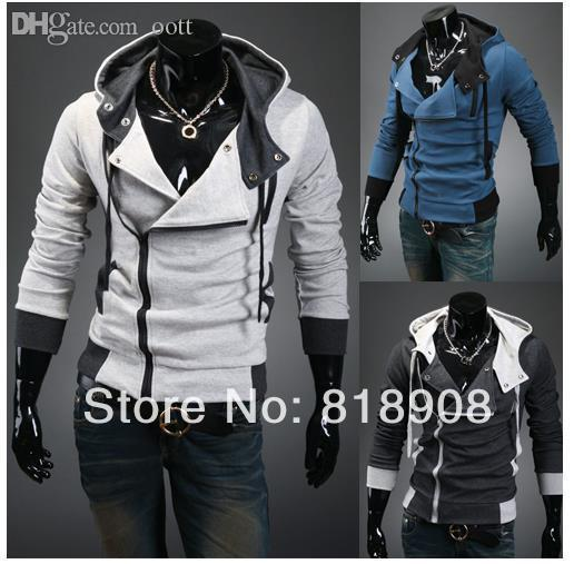 Wholesale-2015 Spring/Autumn assassins creed cosplay hoodies sweater jacket unisex mens or womens hoodies