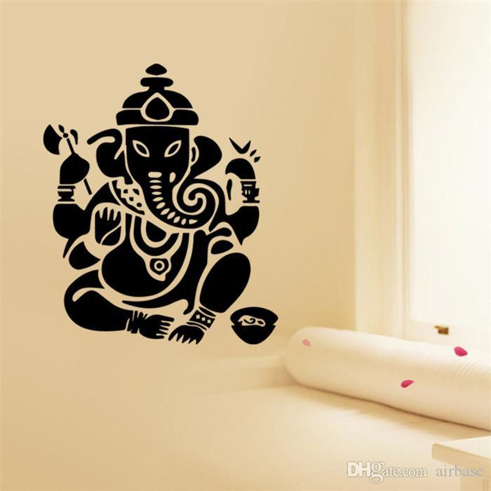 Art design Indian Namaste Words God Column Religion Wall Stickers ...