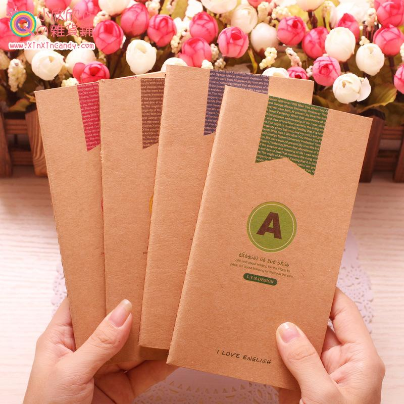 Guoping новый корейский слово ретро крафт-бумага крафт-бумага книга Я люблю помнить слово суб ноутбук