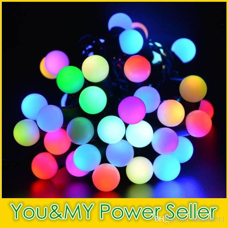Edison2011 2017 Boże Narodzenie LED Mini Globe Stringi Światła 5m / set 50leds 110 V 220 V Wielobarwne wodoodporne ozdoby świąteczne Party Darmowe DHL