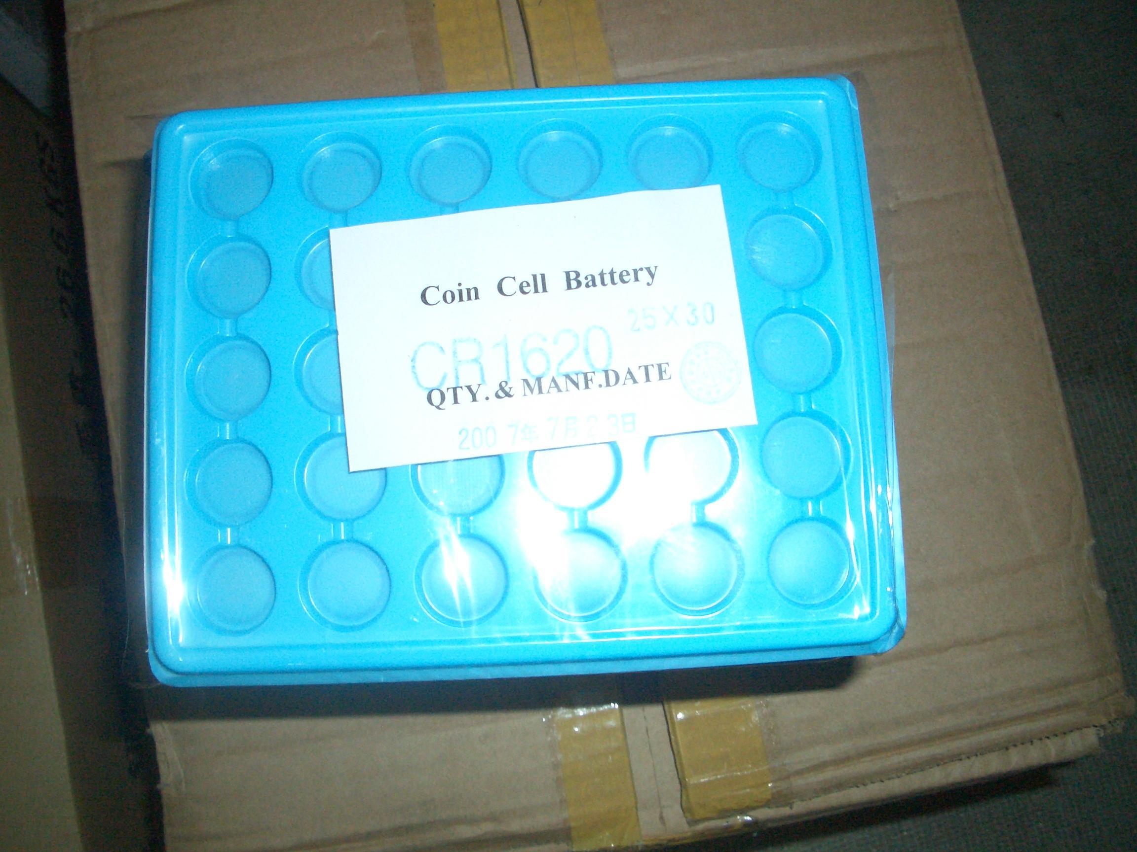 Le cellule della moneta di bottone della batteria CR1620 ECR1620 della batteria a bottone del bottone del litio di 5000pcs 3v per le vigilanze accendono i giocattoli