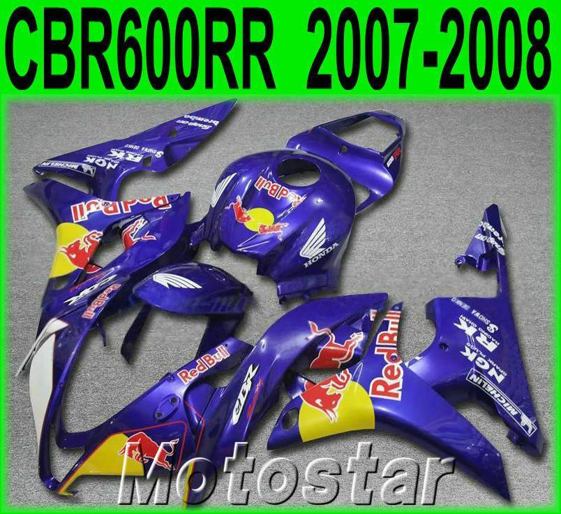 Free shipping fairing body kit for HONDA Injection molding CBR600RR 2007 2008 fairings CBR 600RR F5 07 08 yellow blue motobike set FG31