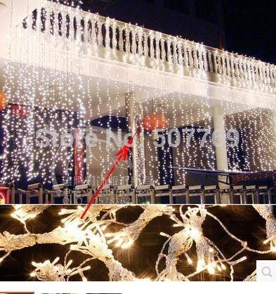 6 м ширина * 4 м падение рождественские украшения свадебные принадлежности Открытый сад украшения светодиодные праздничные огни серии