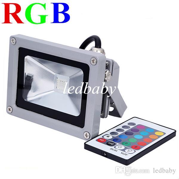 RGB Flood Light Ultra Bright RGB 10W Led Flood Lights Warm White Led Outdoor Landscape Lamp Projector Light 85-260V
