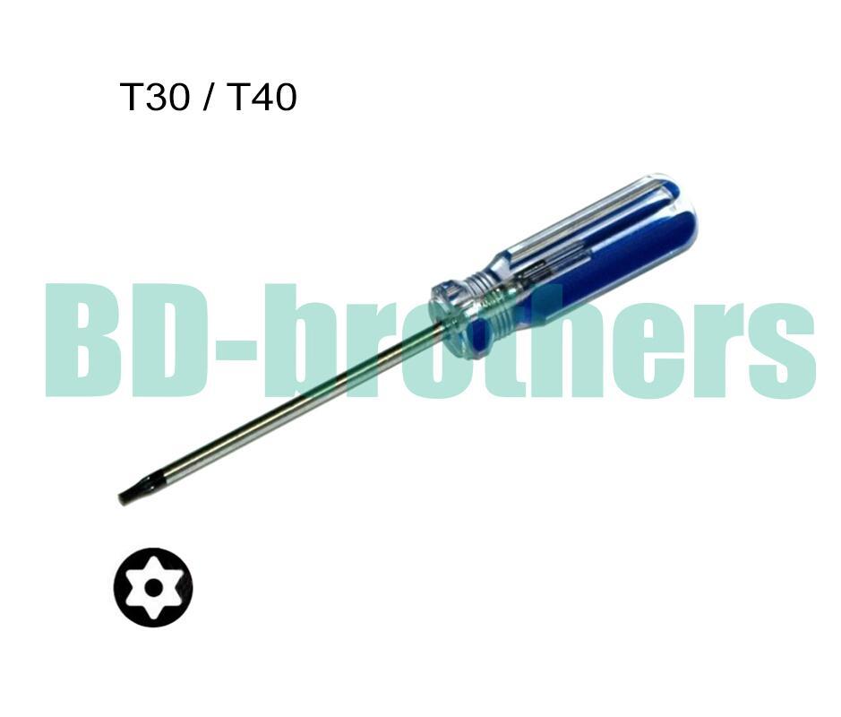 T30 / T40 مع هول توركس مفك مفتاح PVC الملونة شريط مقبض المفكات أداة إصلاح بالجملة 96pcs / lot