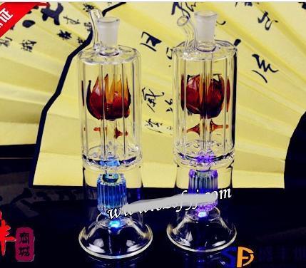 送料無料卸売水 -  Hookah Glass [47#2層下の拍手の植木鉢、色のランダムな配達