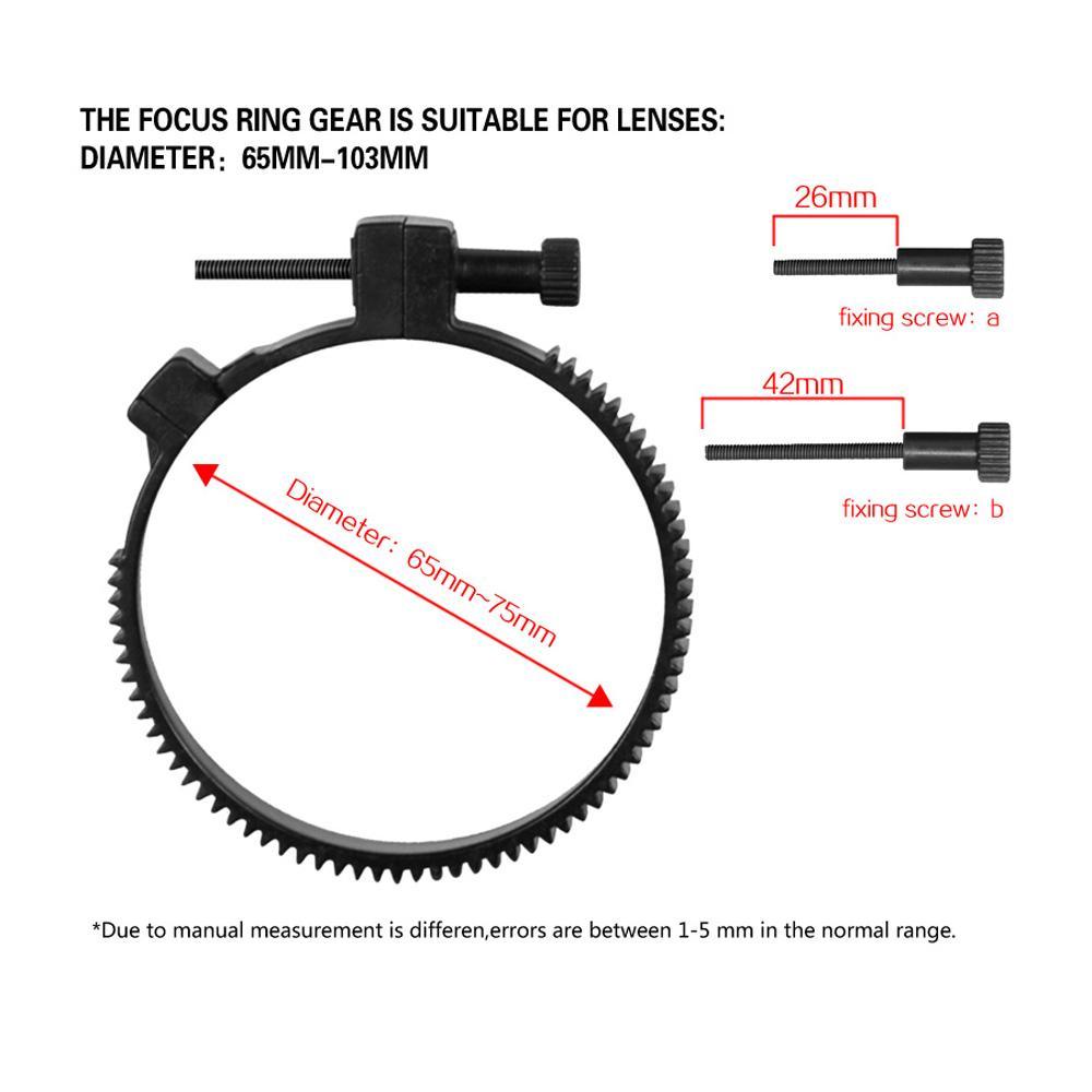 Freeshipping Follow Focus Finder CN-90F Follow-Fokus mit Getriebegürtel für Canon Nikon DSLR Cameras Camcorder