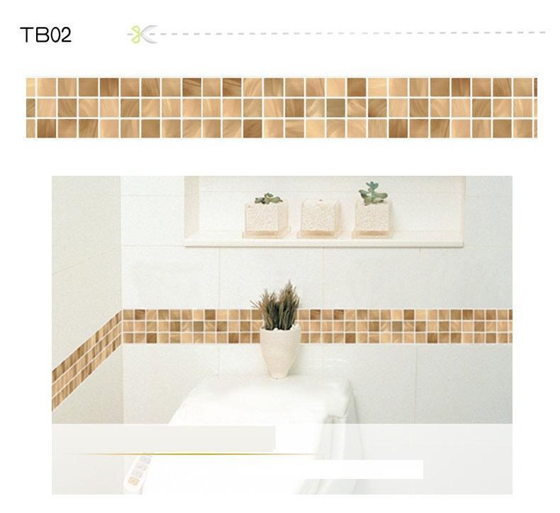 waterproof bathroom mosaic vinyl kitchen wall stickers waistline, Home decor