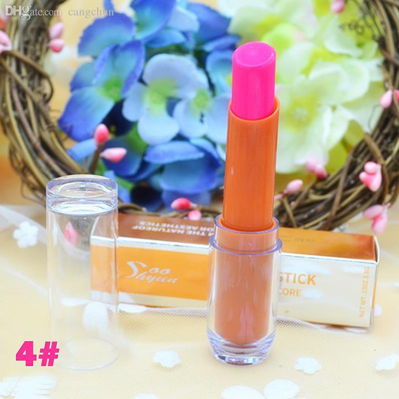 Wholesale-6 Colors Available Glow In The Dark Lipsticks  Shiny Party Fluorescent Luminous Lip Stick Lip Gloss VDF33 P