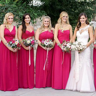 Crimson Burgundy Bridesmaid Dresses Long Floor Classic Three Styles Cris Cross Pleats Empire A Line Plus Size Bridesmaid Dresses For Cheap Bridesmaid