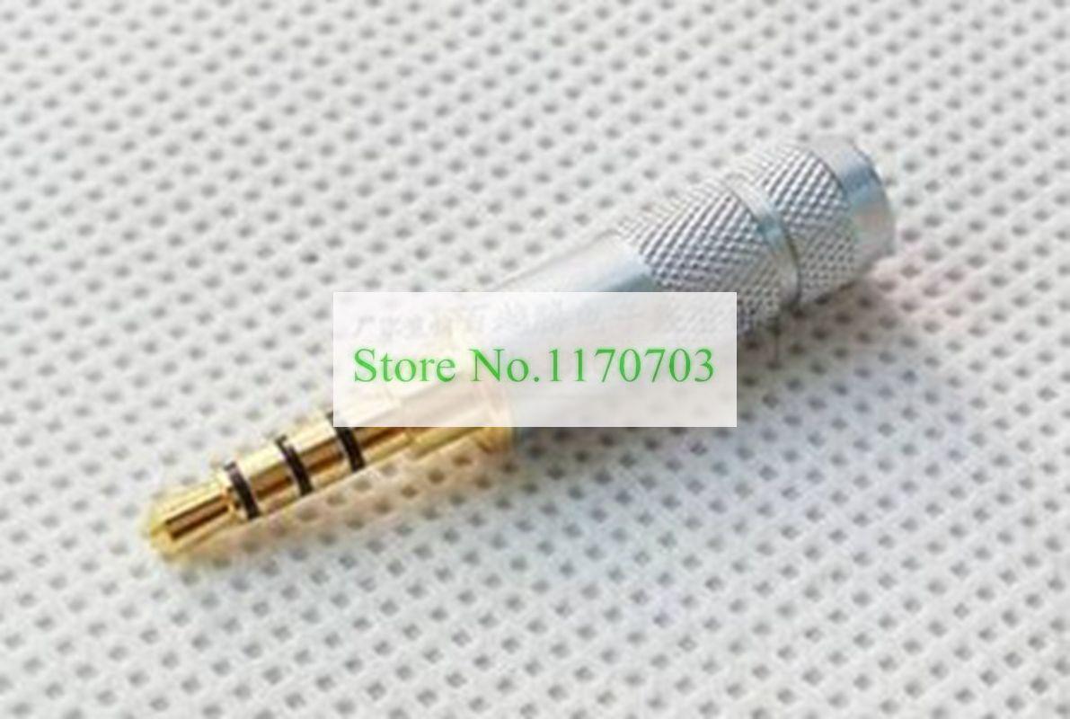Nieuwe 50 stks Gold 3.5mm Stereo 4 Pole Reparatie Hoofdtelefoon Jack Plug Kabel Audio Solden