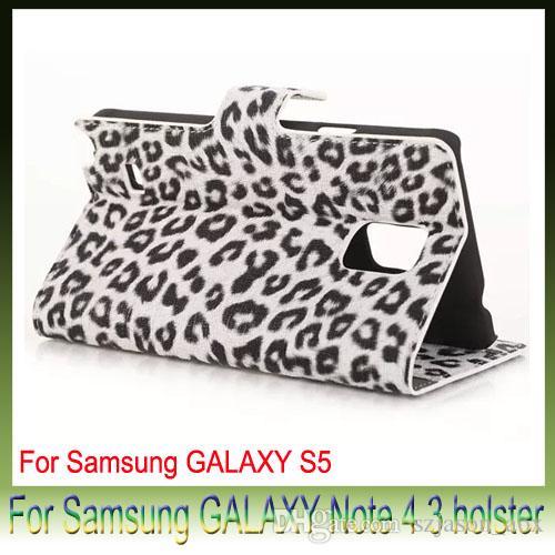 Lampart Ziarno PU Skórzane Portfel Pokrowiec Etui na telefon komórkowy Dla Samsung Galaxy S6 G9200 Edge4 S5 Flip Leather Skórzana Skóra Trwałe Przypadki telefonu