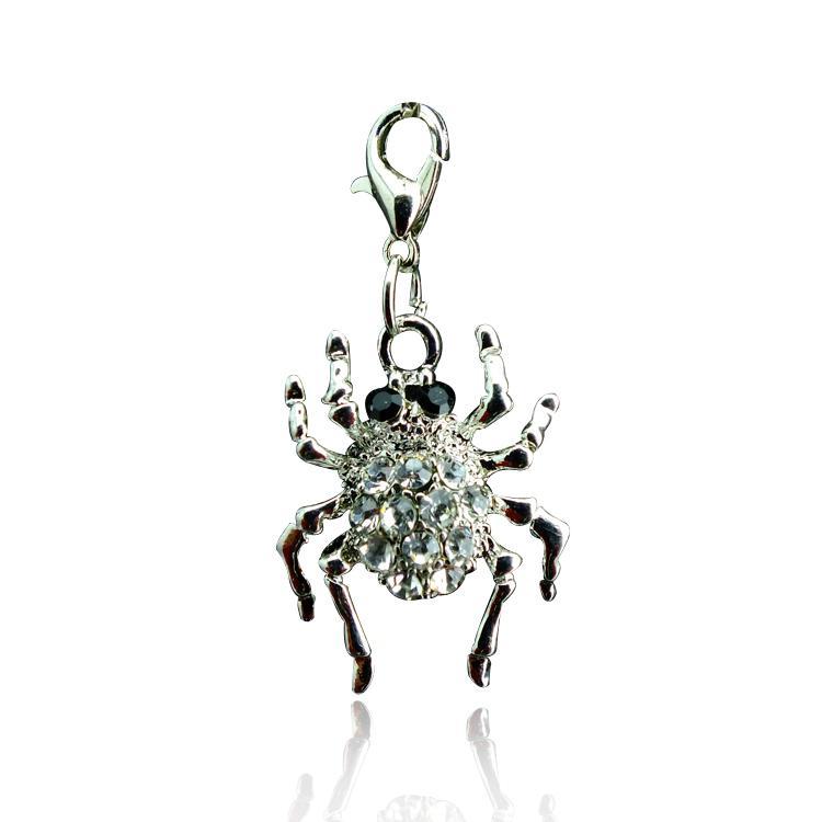 Najnowszy moda urok homar zapięcie biżuteria inkrustowany rhinestone pająk brelok wisiorki DIY akcesoria wsparcie mix hurtownie