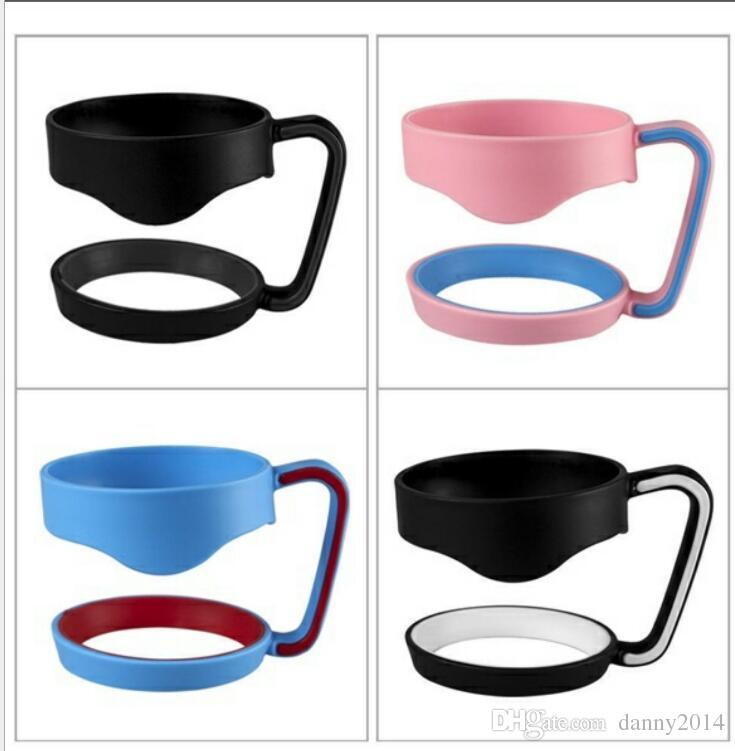 Vaso de plástico con mango de 30 oz. Vaso de taza Vaso con mango negro Sostenedor de mano con ajuste de viaje Tazas de viaje de coche Mangos de agua potable Gadgets de exterior