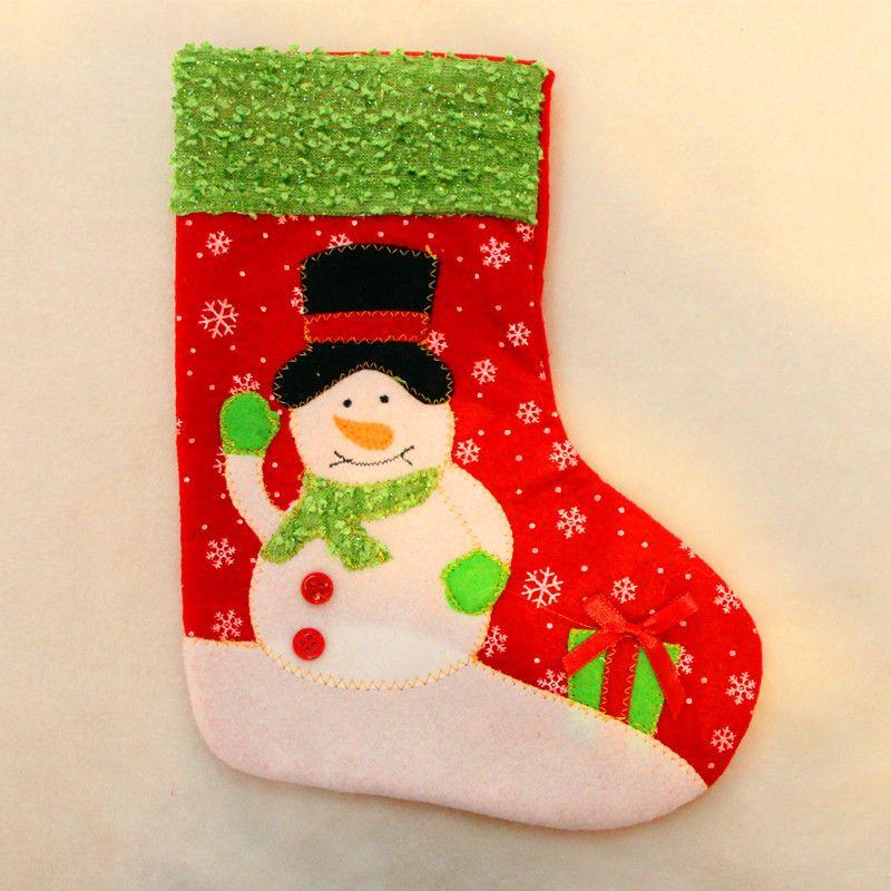 Christmas Stockings Gift Bag Lovely Christmas Gift for Children Christmas Ornament Festive Party Art Decoration SD711