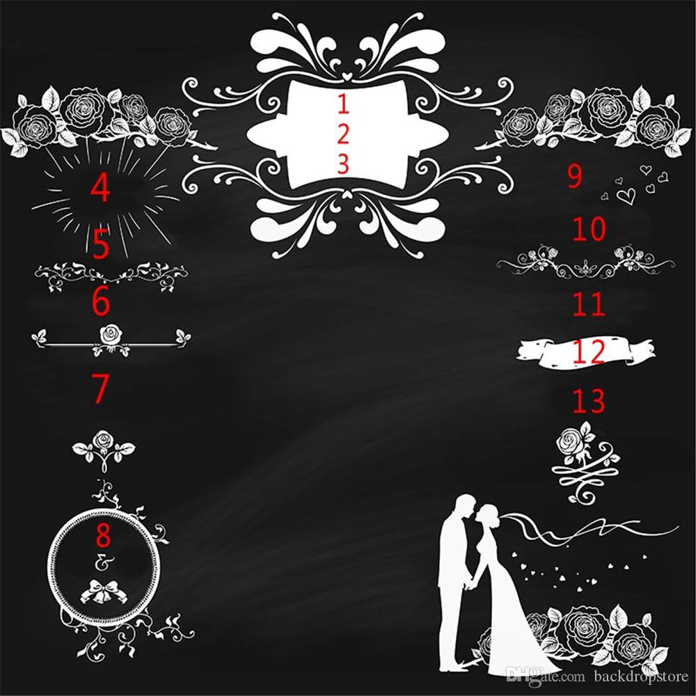 2020 Customized Wedding Party Photography Backdrops Blackboard Digital Printing Roses Diy Pattern Vinyl Photo Booth Background Banner From Backdropstore 16 73 Dhgate Com