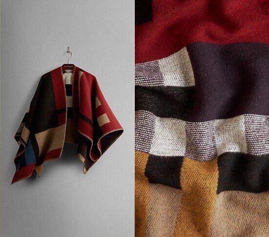 2014 Brand Designer Women Colour Black Check Blanket Poncho Wool Plain Cape For Lady, Free Shipping