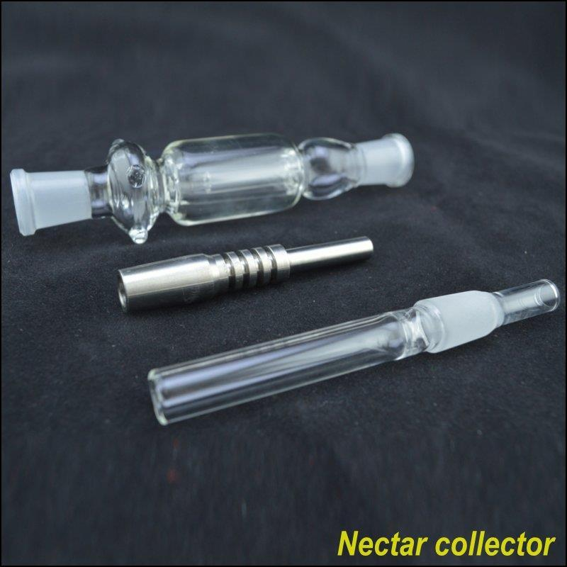 Clear Green Glass Collectors 6-Zoll-Länge mit Titanspitze und abnehmbarem Hals-Set Günstige Collectar 14mm-Verbindung für Raucherzubehör