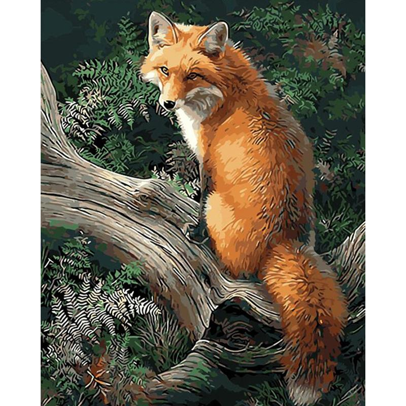 Fox DIY 5D Full Diamond Painting Embroidery Cross Stitch Kit Home Decor Craft