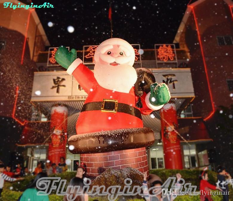 6 m extérieur du Père Noël gonflable Père Noël de cheminée