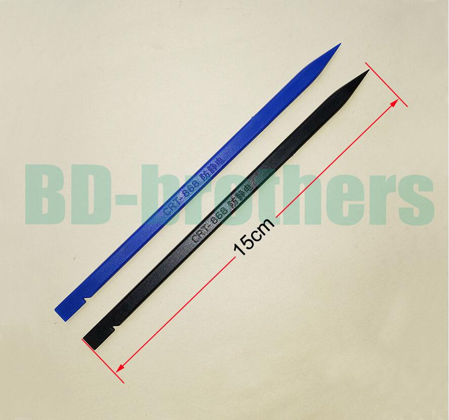 Outil de levier de câble plat en plastique antistatique noir / bleu 15CM Spudger Bar réparation de levier de levier pour outils Android pour iPhone Android 500pcs / lot