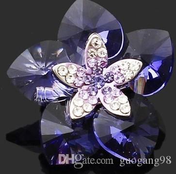 больше цвета Кристалл мужской цветок;брошь с Леди (2.8*2.8 см ) (myyhmz )