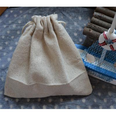 Saco de lino con cordón de algodón Saco 13x13cm 18x18cm Paquete de 23x23cm de 100 Joyas de maquillaje Gift Packaing Pouch