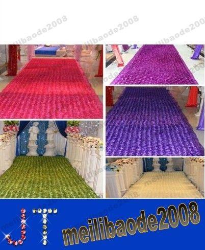 New Romantic Wedding Centerpieces Favors 3D Rose Petal Carpet Aisle Runner For Wedding Party Decoration Supplies 14 Color MYY15400