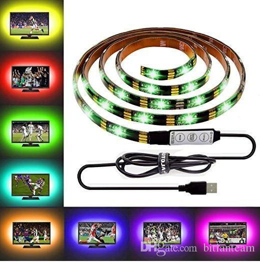 DIY 5050 RGB LED Strip Waterproof DC 5V USB LED Strips Flexible Tape 1M 2M 3M 4M 5M add Remote For TV Background