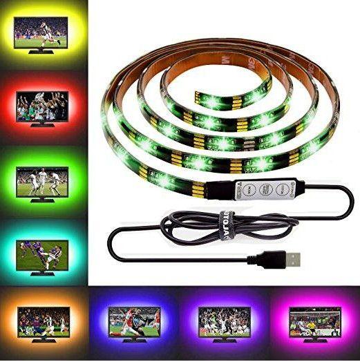 DIY 5050 RGB LED Strip Водонепроницаемые DC 5V USB светодиодные ленты Гибкая лента 1M 2M 3M 4M 5M добавить пульт для ТВ фон